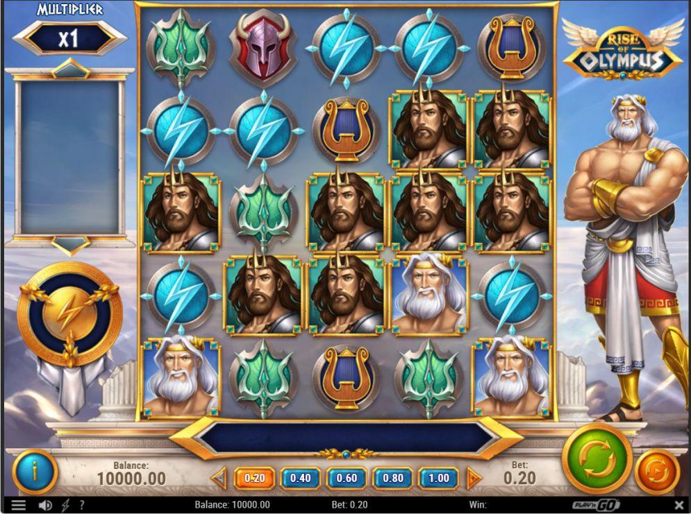 ตัวอย่างหน้าจอเกม Rise of Olympus